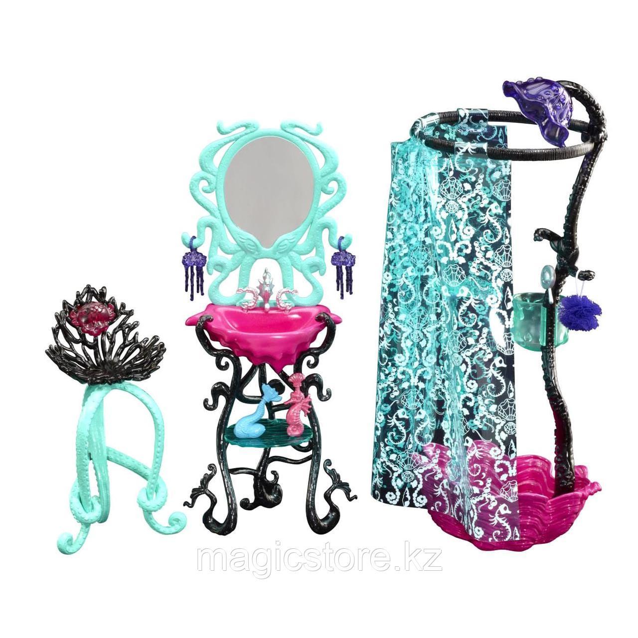 Душевая Monster High Лагуны Блю Lagoona Blue Shower and Vanity Playset - фото 1