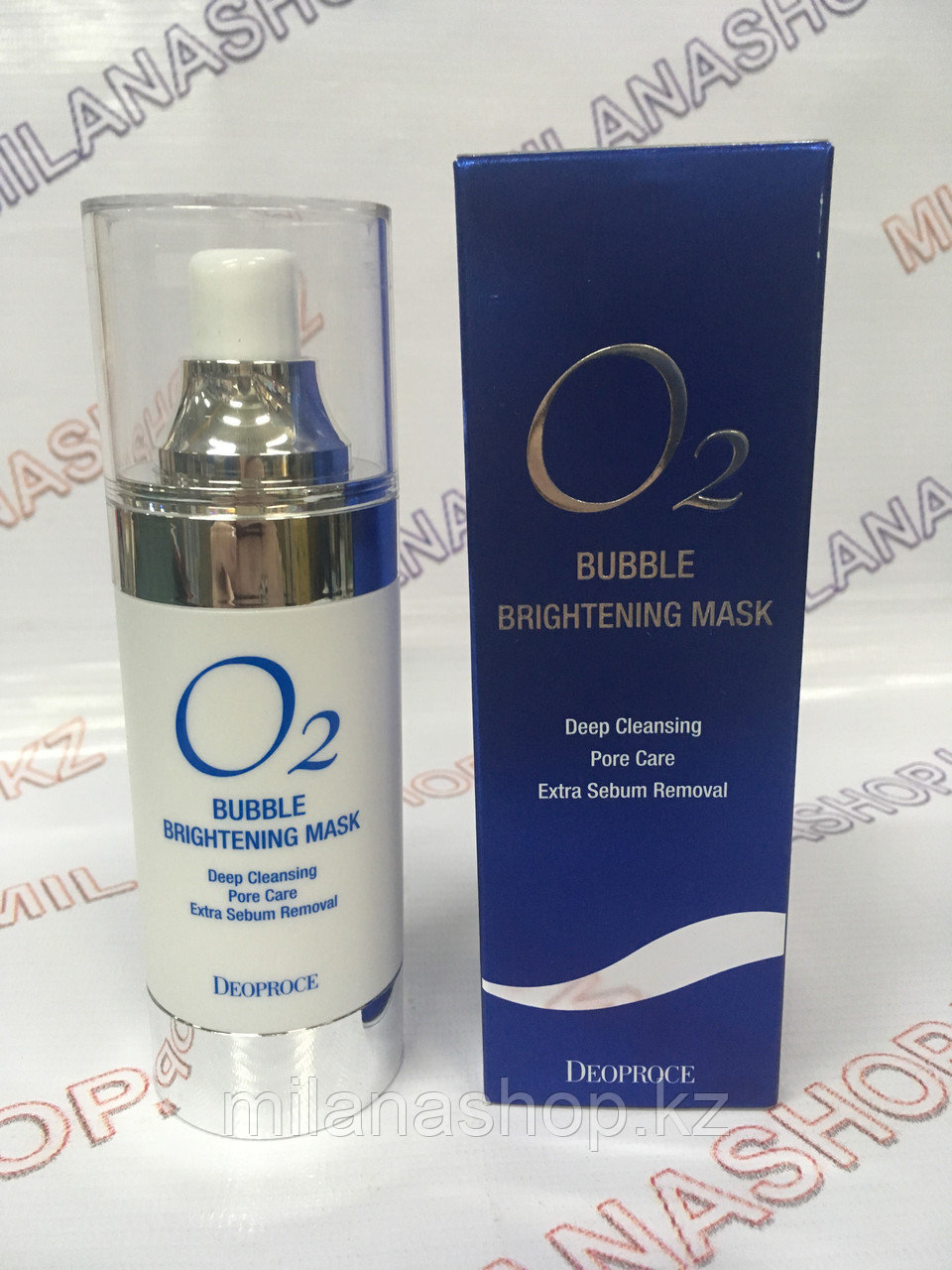 Deoproce Q2 Bubble Brightening Mask  Q2 -  Кислородная маска-пенка для лица