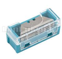 Лезвия МИНИ, 9 мм, трапециевидные, пластиковый пенал, 15 шт.// GROSS 79373 (002)