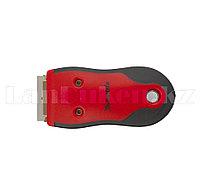 Скребок, выдвижное лезвие, обрезиненный корпус из нержавеющей стали 3 запас. лезвия// Matrix 79544 (002)
