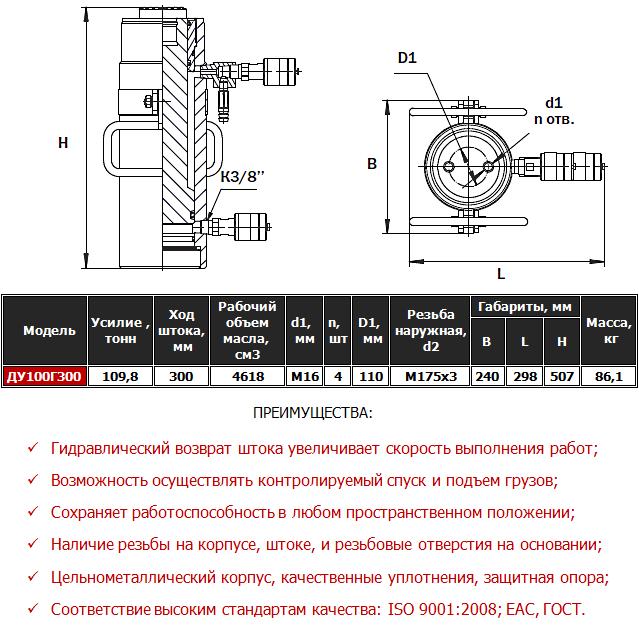конструкционные особенности домкрата