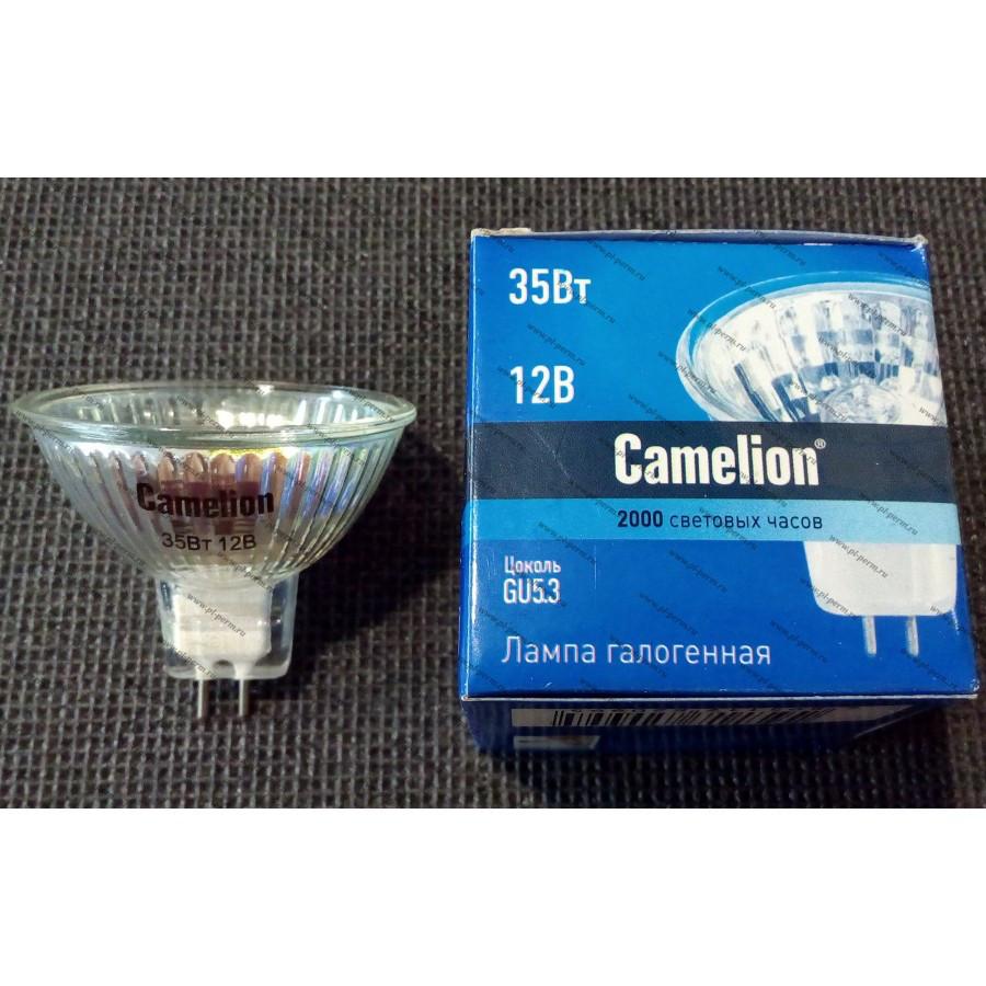 Лампа галогенная Camelion MR16 12v 35W GU5.3 d-50мм стекло