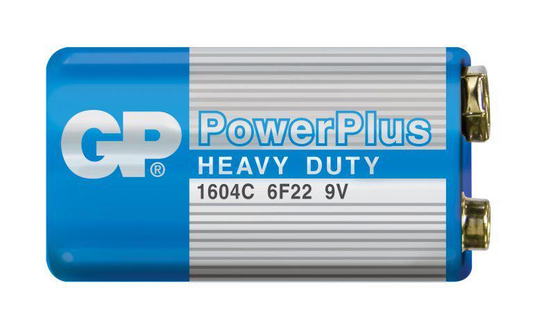 Солевая батарейка GP PowerPlus 9V Крона