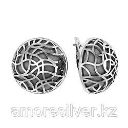 Серебряные серьги с гематитом   Приволжский Ювелир 361468