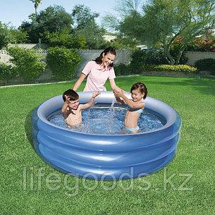 """Детский надувной бассейн круглый """"Металлик"""" 150х53 см, Bestway 51041, фото 2"""