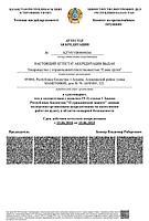 Аттестат аккредитации на выполнение работ по аудиту в области пожарной безопасности на русском языке