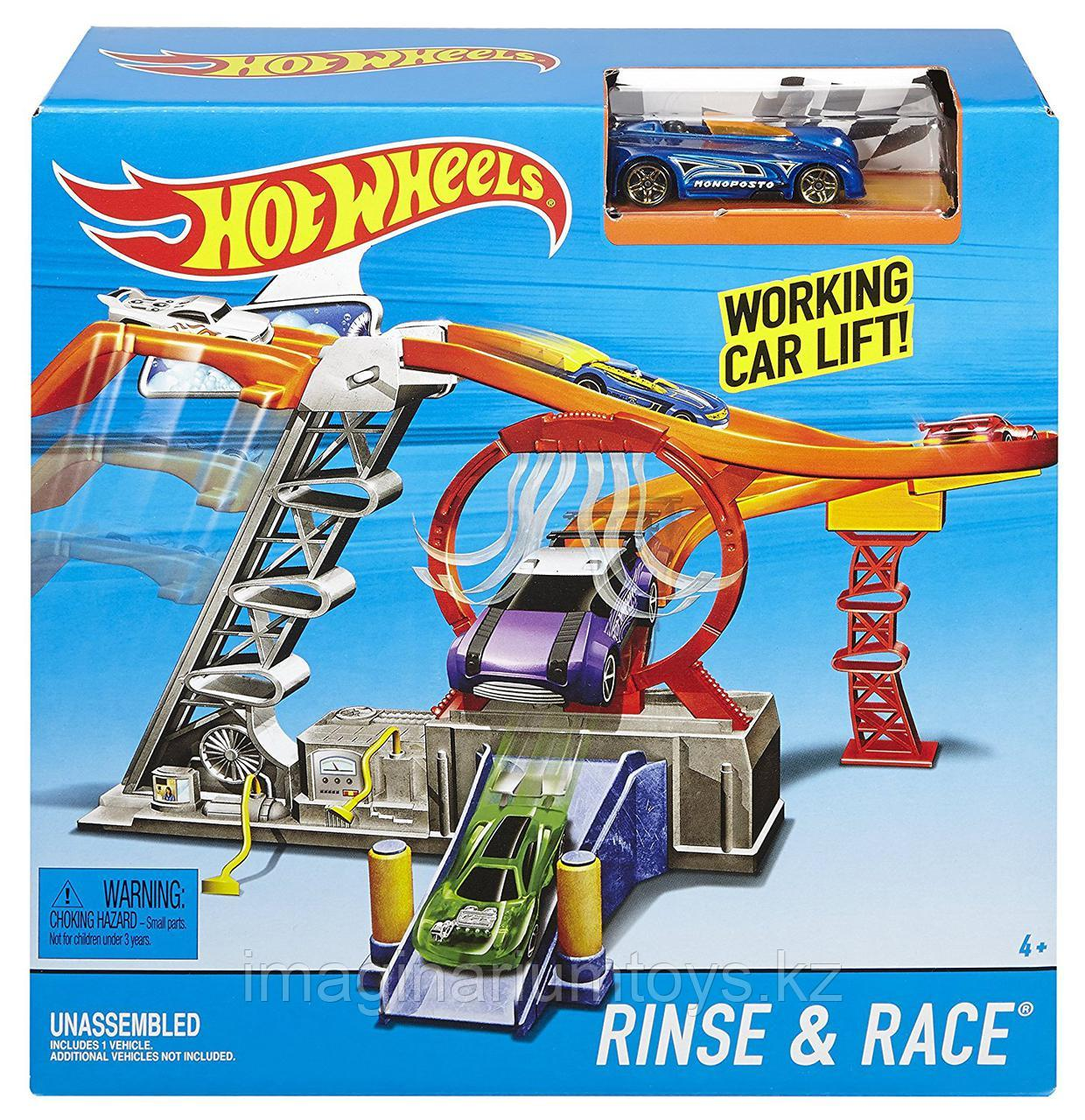 HOT WHEELS Трек «Автомойка» Rinse and Race Set