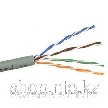 Кабель FTP4 cat.5е, одножильный / экранированный / 305м / Сu / для наружных работ, проволочный трос