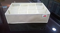Коробка цвет слоновой кости с 12 отделами 32х22х9 см.