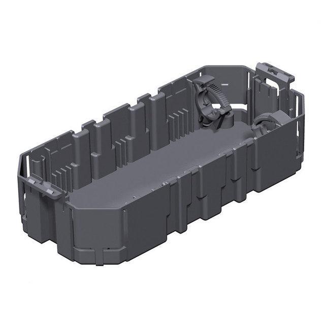 OBO Bettermann Монтажная коробка GB2 для установки в лючок для 3xModul45 (полиамид,черный)