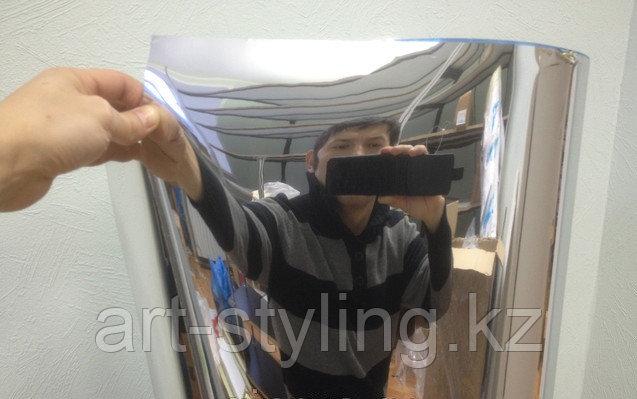 Декоративная зеркальная пленка, имитация настоящего зеркала.