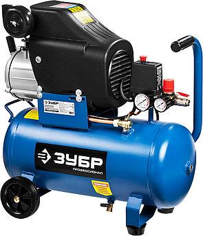 (ЗКПМ-310-24-2.2) Компрессор воздушный, ЗУБР Профессионал, поршневой, масляный, прямой привод, 310 л/мин, 24 л