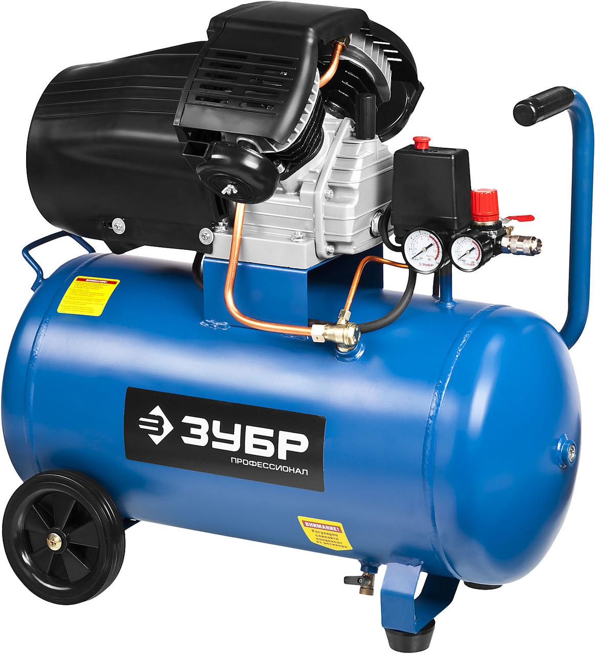 (ЗКПМ-360-50-2.2) Компрессор воздушный, ЗУБР Профессионал, поршневой, масляный, 360 л/мин, 50 л