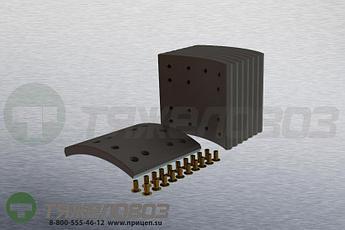 Накладки тормозные с заклепками (комплект) VOLVO STD 19543x4/19759x4 3091438 (360x170)