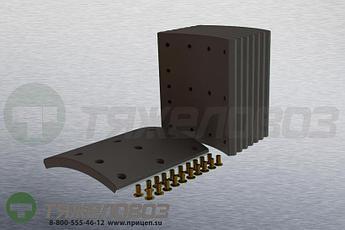 Накладки тормозные с заклепками (комплект) VOLVO STD 19940 270838-6 (410x223)