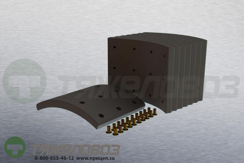 Накладки тормозные с заклепками (комплект) VOLVO STD 19562 1504661 (394x203)
