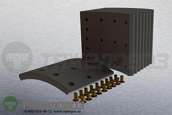 Накладки тормозные с заклепками (комплект) VOLVO STD 19938 270834-5 (410x175)