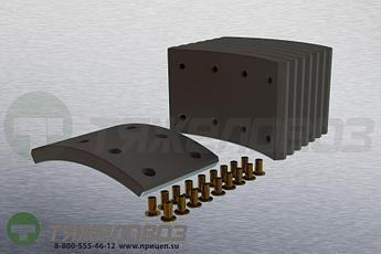 Накладки тормозные с заклепками (комплект) VOLVO STD 17992 270830-3 (410x125)