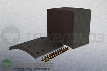 Накладки тормозные с заклепками (комплект) SCANIA STD 19933 1535250 (413x254)