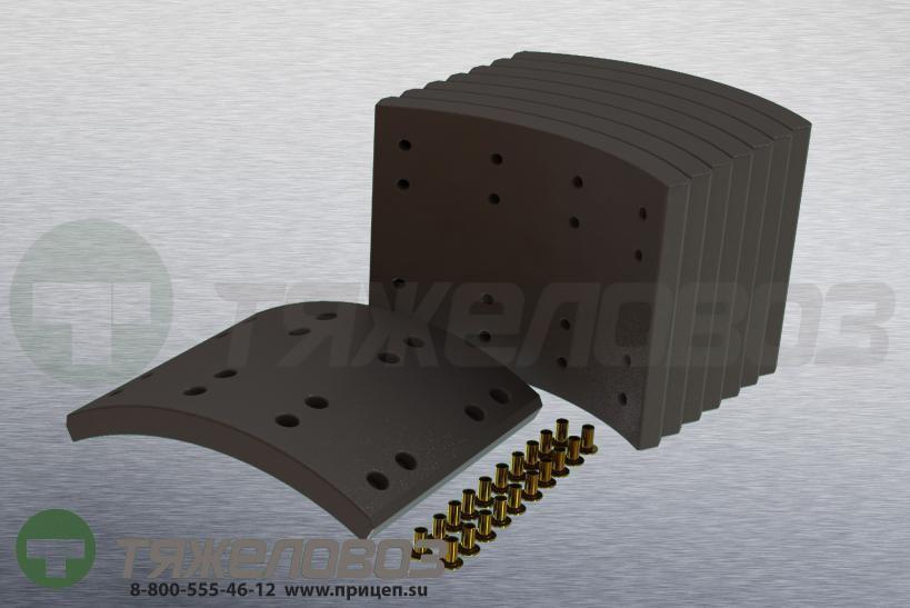 Накладки тормозные с заклепками (комплект) SCANIA STD 19931 1535248 (413x178)