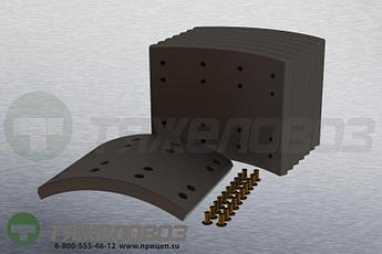 Накладки тормозные с заклепками (комплект) SCANIA STD 19932 1109003 (413x203)