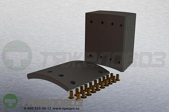 Накладки тормозные с заклепками (комплект) SAF STD 19479x4/19480x4 1057006800 (367x180)