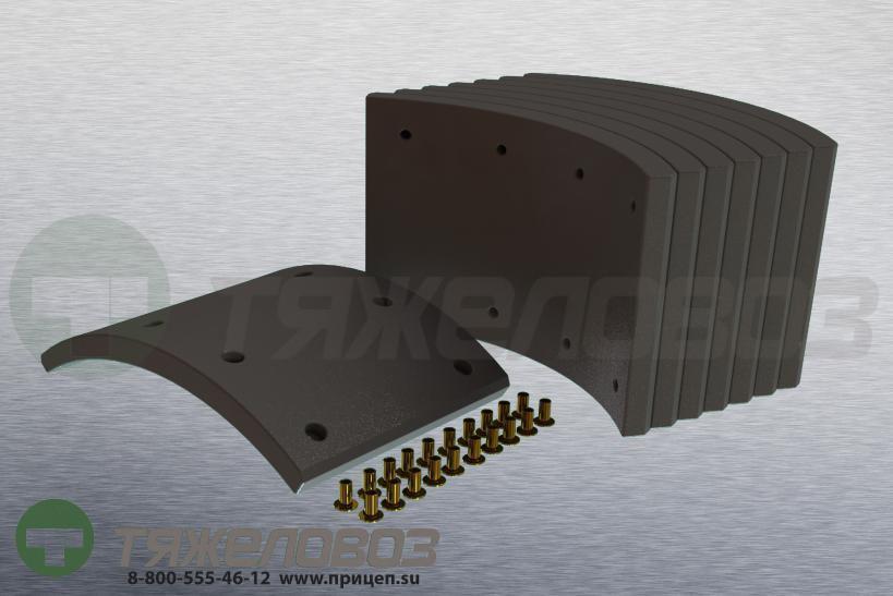Накладки тормозные с заклепками (комплект) SAF STD 19477 1057006600 (420x200)