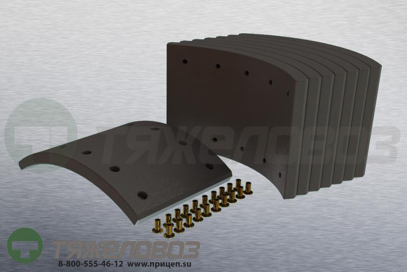 Накладки тормозные с заклепками (комплект) SAF STD 19032 1057001200 (420x180)