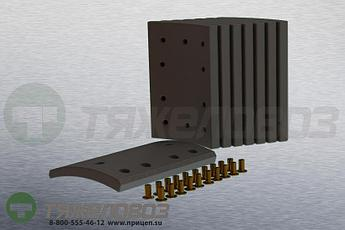 Накладки тормозные с заклепками (комплект) MERITOR STD 19908 21209710 (350x200)