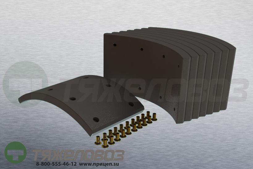 Накладки тормозные с заклепками (комплект) SAF STD 19283 1057006000 (420x178)