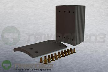 Накладки тормозные с заклепками (комплект) SAF STD 19515 1057002400 (300x200)