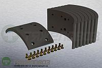 Накладки тормозные с заклепками (комплект) MERCEDES-BENZ STD 17287 6734210331 (308x135)