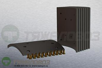 Накладки тормозные с заклепками (комплект) MERCEDES-BENZ STD 19581 3074230610 (410x223)