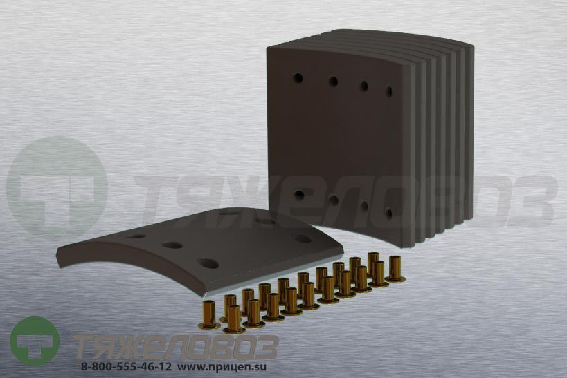Накладки тормозные с заклепками (комплект) MAN STD 17988 81502210587 (325x150)