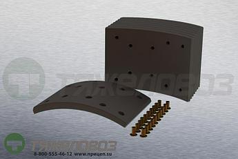 Накладки тормозные с заклепками (комплект) MAN,MERCEDES-BENZ STD 19580 81502200565 (410x163)