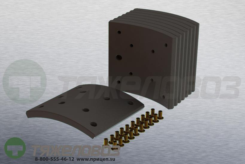 Накладки тормозные с заклепками (комплект) MAN,MERCEDES-BENZ STD 19486/19494 81502200547 (410x160)