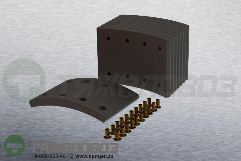 Накладки тормозные с заклепками (комплект) MAN,MERCEDES-BENZ STD 17238 81502200235 (410x143)