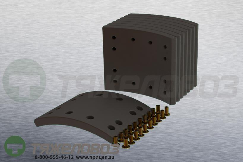 Накладки тормозные с заклепками (комплект) MAN,MERITOR STD 19177 81502006805 (360x160)