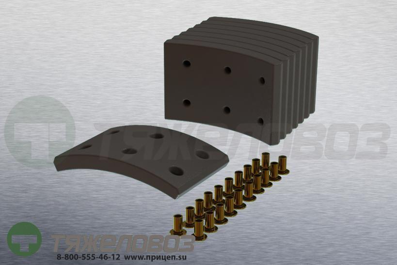 Накладки тормозные с заклепками (комплект) MAN,MERITOR STD 15879 80502216013 (325x97)
