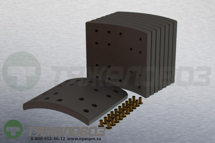 Накладки тормозные с заклепками (комплект) IVECO STD 19343/19263 1906202 (410x200)