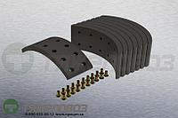 Накладки тормозные с заклепками (комплект) IVECO STD 17924 1903254 (310x100)