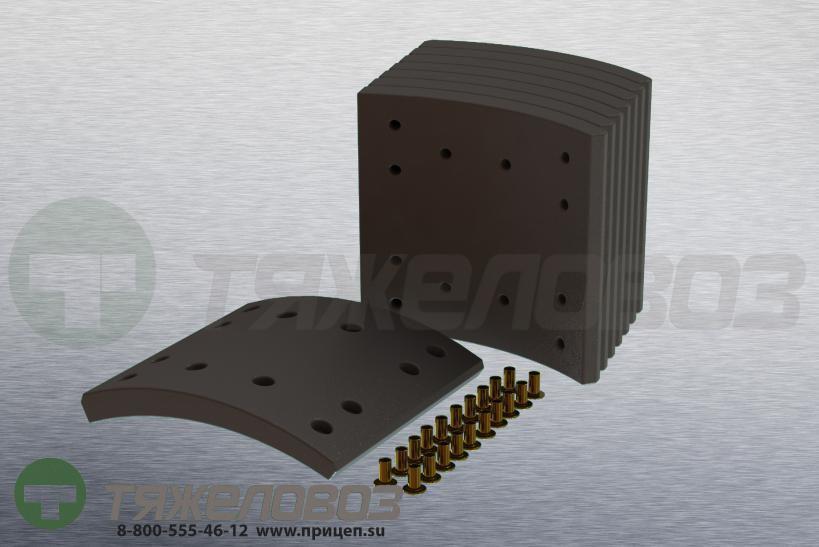 Накладки тормозные с заклепками (комплект) IVECO STD 19716 1906413 (410x200)