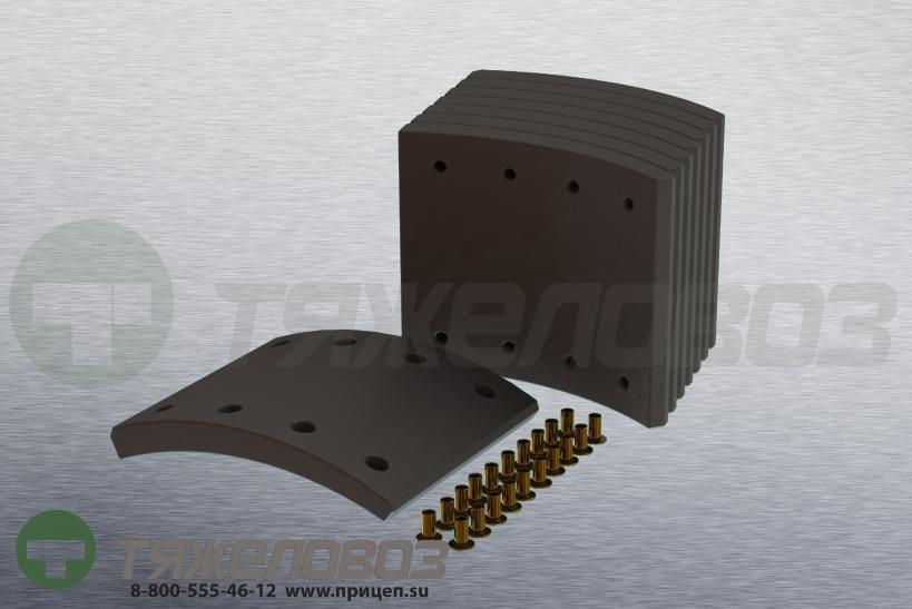 Накладки тормозные с заклепками (комплект) IVECO STD 19556/19714 1906372 (410x180)