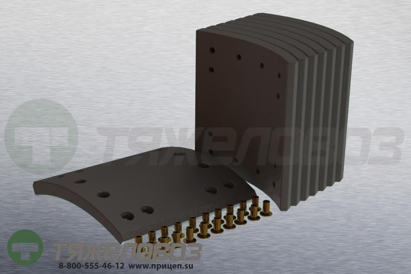 Накладки тормозные с заклепками (комплект) FRUEHAUF STD 19557 M910035-01 (419x203)