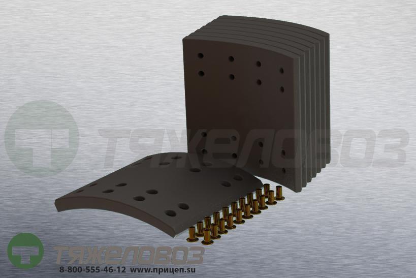 Накладки тормозные с заклепками (комплект) DAF STD 19063 682426 (420x200)
