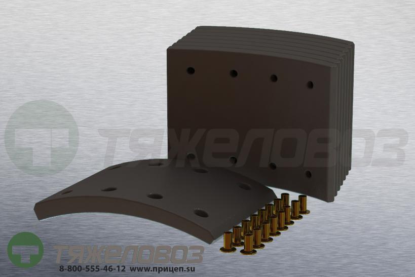 Накладки тормозные с заклепками (комплект) DAF STD 19010 682416 (420x150)