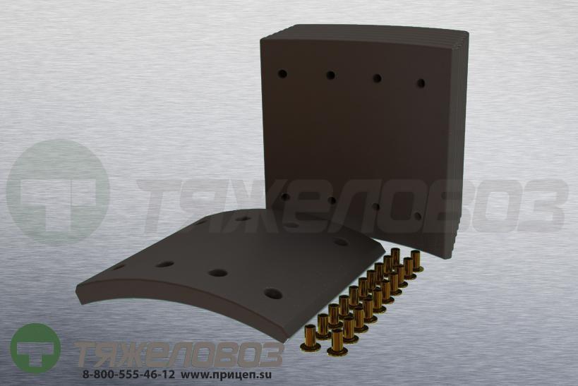 Накладки тормозные с заклепками (комплект) BPW,DAF,Freuhauf,GIGANT,SAF STD 19094 0309227010 (420x200)