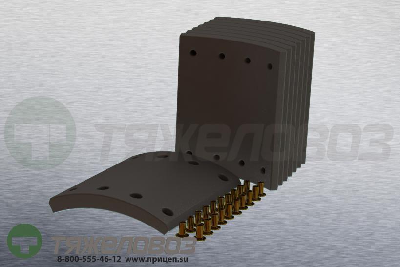 Накладки тормозные с заклепками (комплект) BPW STD 19574 0309214120 (300x200)
