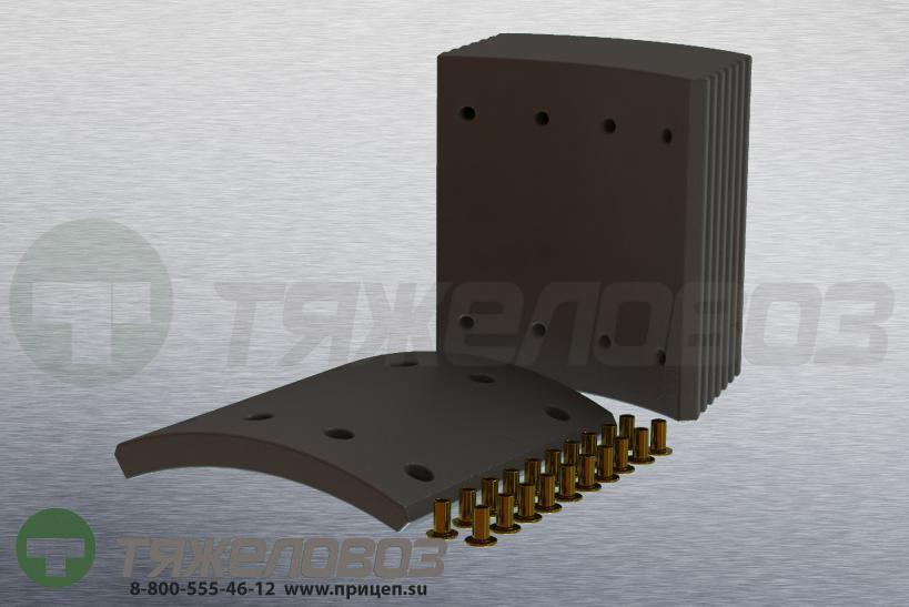 Накладки тормозные с заклепками (комплект) BPW STD 19902 0309219080 (360x200)