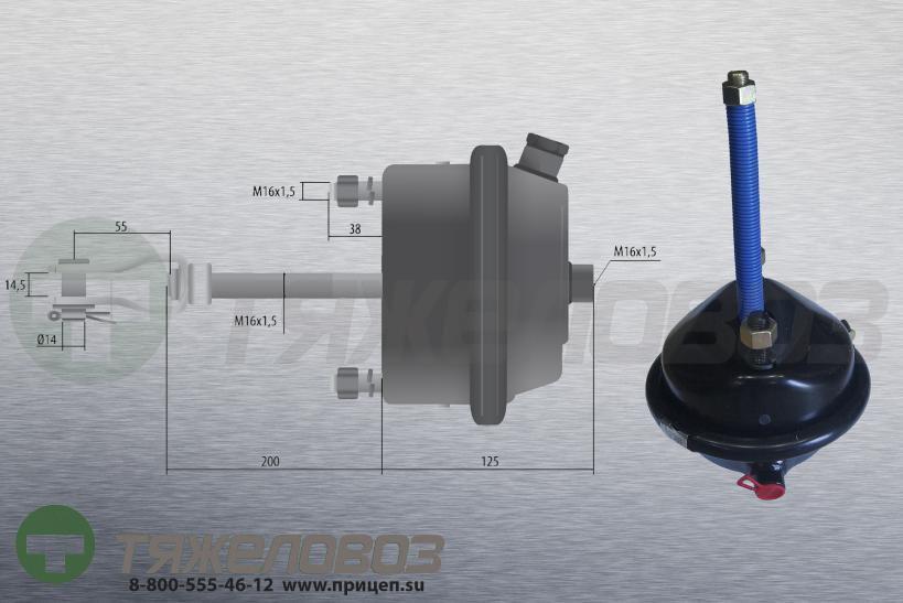 Камера тормозная тип 20 BPW (барабанный тормоз) 05.444.14.01.0